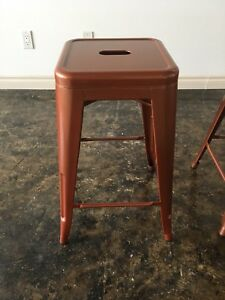 LIKE NEW - Mid Century Modern Bar Stools - Copper