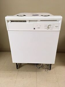 White Whirlpool dishwasher