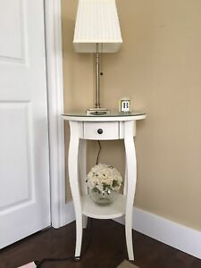 2 Beautiful white site tables or night stand