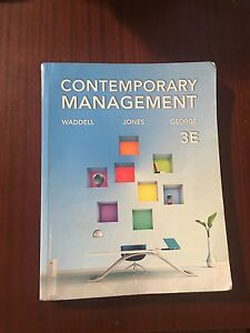 Contemporary Management 3E Curtin commerce 1st year Warwick Joondalup Area Preview