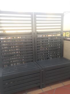 Trellis Wall Garden Outdoor Seating Storage