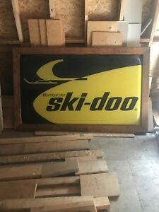 Authentic vintage skidoo sign