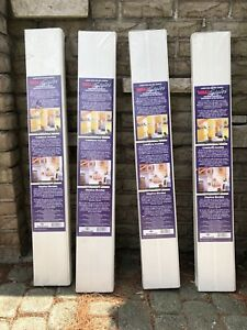WHITE MDF WALL PLANKS BRAND NEW - 4 PACKAGES