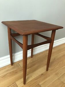 Teak Mid Century Modern Small Table - Made in Denmark