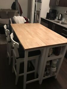 Gate leg kitchen island