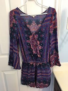 American Eagle Women's Romper Size Small (Made Large)