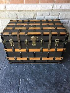 Antique Victorian Steamer Trunk
