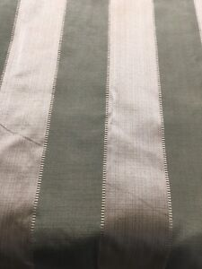 Green & Taupe Striped Curtains