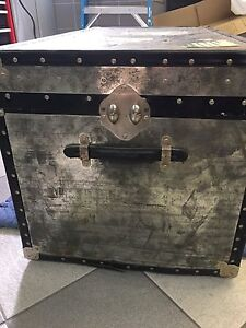 Classic steamer trunk for decoration