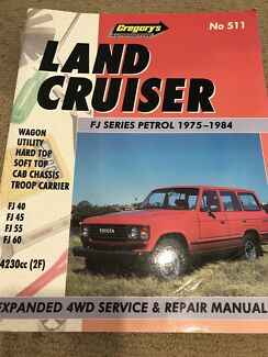 Land cruiser Fj series petrol******1984 service and repair manual Cardiff Heights Lake Macquarie Area Preview