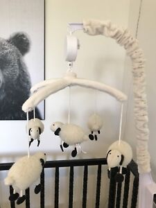Pottery barn lamb mobile and mobile arm
