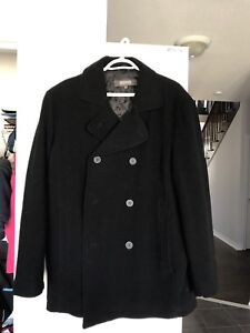 Men's large wool coat made by Kenneth Cole
