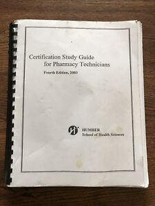 Certification study guide for pharmacy tech