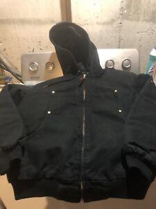 Tough duck hooded bomber jacket