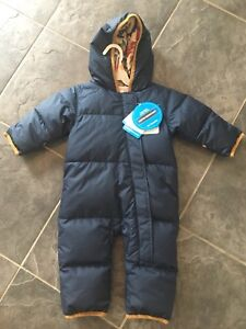 BNWT Boys 6-12mo Columbia Down One piece Snowsuit