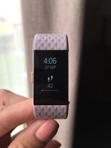 FitBit Charge HR Lavender & Rose Gold Small - Like New