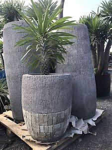 Stone pot lava concrete planter decorative pot 40x50cm Berry Shoalhaven Area Preview