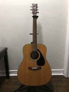 SOLD - Yamaha acoustic guitar with stand, capo and strap - SOLD