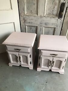 Refinished Blush nightstands