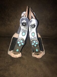 Turquoise embellished stirrups