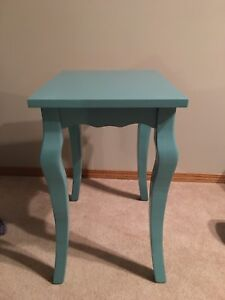 Turquoise End Table
