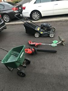 Lawnmower/Hedge Cutter & more