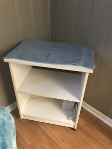 2 shelving units on casters