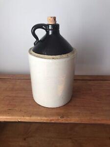 Antique / Vintage Stoneware Whisky Jug / Crock