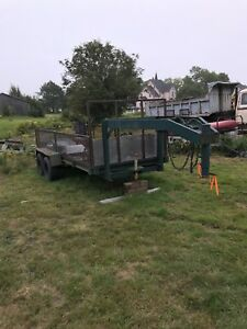16 foot goose neck trailer