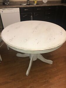 Wooden distressed kitchen table
