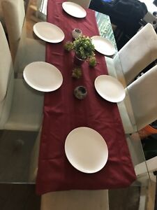 Glass dining table set, seats 6 $200
