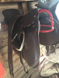 Beautiful english saddle and bridle.