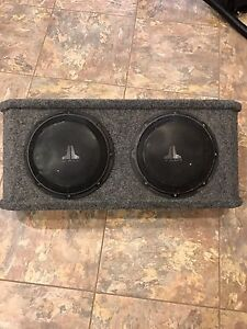 "10"" JL Audio Subs and box"