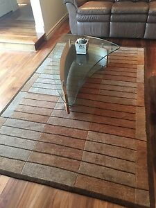 Glass and wood coffee table with two side tables
