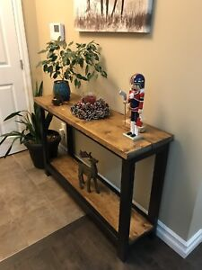 Console table solid wood