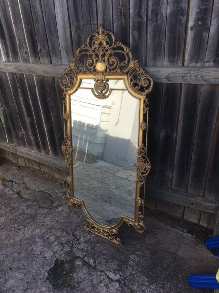 Antique Brass Mirror North Parramatta Area Image 2 1 Of 4
