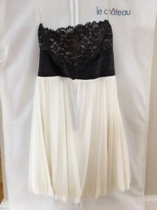 Strapless Prom Dress Size Small Black and White