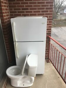 Fridge and toilet for sale dirt cheap