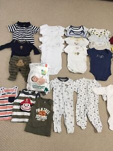 EUC lots of baby boy 0-3mos clothing. All for $20