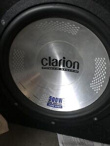 """12"""" clarion subwoofer and box"""