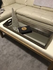 MIRRORED WOOD SERVING TRAY