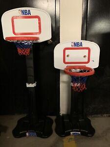 Adjustable NBA basketball nets