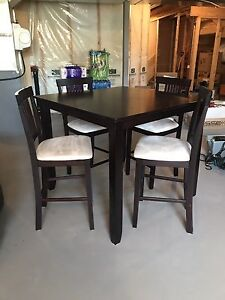 Dining Table and Chairs counter height set