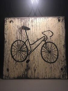 Antique bicycle parking sign