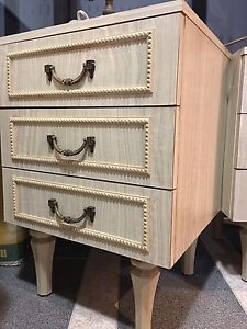 Handmade wooden vintage bedside tables Darling Point Eastern Suburbs Preview