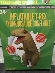 Kids Halloween costume inflatable t-Rex
