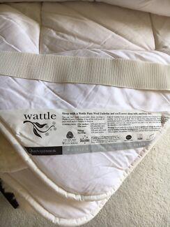 Minijumbuk wattle pure wool underlay Queen size