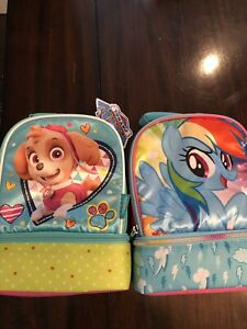 New lunch boxes my little pony paw patrol!