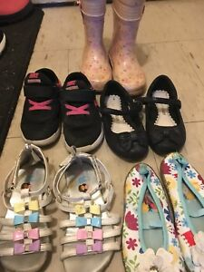 Variety of girl toddler shoes