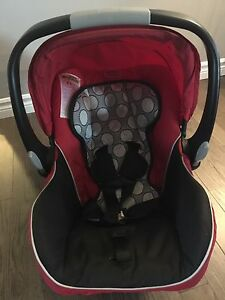 Britax car seat, base and cover